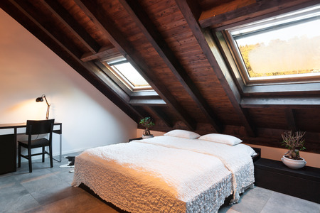 skylights in a bedroom