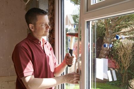 installing new replacement windows in house